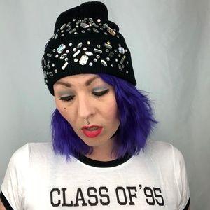 Bling * Julz Gem Beanie * Bejeweled Knit Hat * NEW